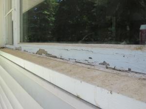 cracked window paint