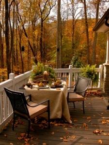 fall themed deck